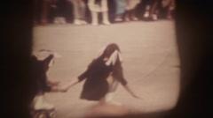 Super 8 projector film scene Stock Footage