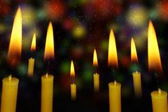 Yellow Candle - stock illustration