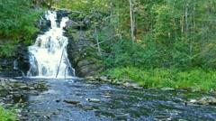 Yukankoski waterfall in Karelia, 4k Stock Footage