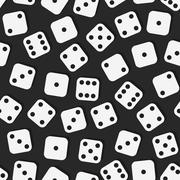All parties dice, board game - stock illustration