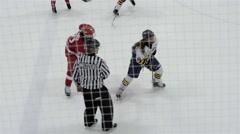 Minor bantam hockey game action. 4K UHD. Stock Footage