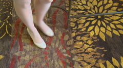 Stock Video Footage of Rug Woman Shoes