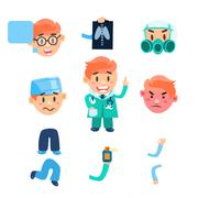 Healthcare Infographic Elements. Vector Set - stock illustration