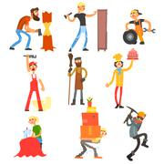 Profession and Occupation Set - stock illustration