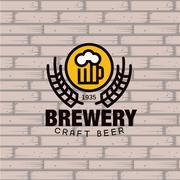 Brewery Logo. Vector Illustration - stock illustration