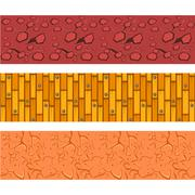 Misted, Laminate Flooring and Clay Patterns Set Stock Illustration