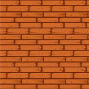 Red Brick Wall Seamless Vector Illustration - stock illustration