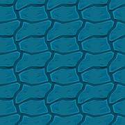 Blue Wavy Elements Texture Background. Vector Abstract Seamless - stock illustration