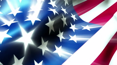 The American flag blows in the wind - Old Glory 0112 HD, 4K Stock Footage