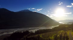 New Zealand river and mountain Stock Footage