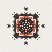Stock Illustration of Vector mandala. Gothic lace tattoo. Celtic weave with sharp corners.