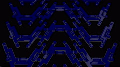 Blue Beat Shuttle 4K Vj Loop 03 Stock Footage