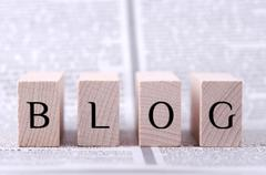 Four wooden blocks with word blog written on. - stock photo