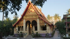 Buddhist temple,Vientiane,Laos Stock Footage