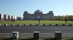 Bundestag (german parliament) in Berlin Stock Footage