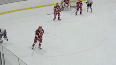Minor bantam hockey game action. 4K UHD. Stock Footage