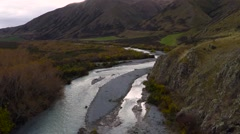 River New Zealand Aerial - stock footage
