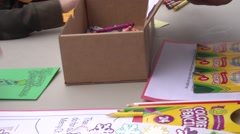 Kids Coloring  - stock footage