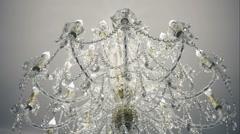Vintage Chrystal chandelier Stock Footage