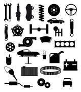 Stock Illustration of Auto Service Items