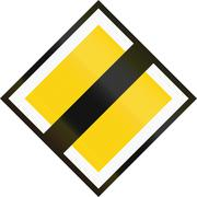 Stock Illustration of Road sign used in Sweden - End of priority road