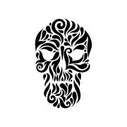 Tribal tatto skull. Stock Illustration