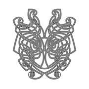 Elegant difficult curled ornamental gothic tattoo. Celtic style. Maori. Stock Illustration