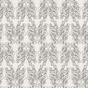 Stock Illustration of Elegant difficult curled ornamental gothic tattoo seamless pattern. Celtic st