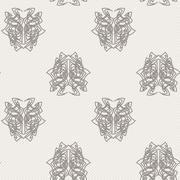 Elegant difficult curled ornamental gothic tattoo seamless pattern. Celtic st - stock illustration