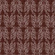 Elegant difficult curled ornamental gothic tattoo seamless pattern. Celtic st Stock Illustration