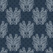 Elegant difficult curled ornamental gothic tattoo seamless pattern. Celtic st Stock Illustration