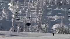 Ski, Snowboard, Chairlift, Winter Sport - stock footage
