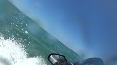 Riding Jet Ski On The Ocean Stock Footage