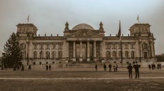 Timelapse view of the facade of Berlin Reichstag Stock Footage