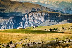Views of the Dolomites, Italian alps. Stock Photos