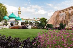 Gardaland Theme Park in Castelnuovo Del Garda, Italy. Stock Photos