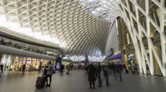 Time lapse of King's Cross station in London Stock Footage