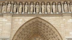 Notre dame de paris cathedral, france, timelapse, zoom out, 4k Stock Footage