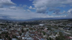 Beautiful panoramic view of Tbilisi at sunse Stock Footage