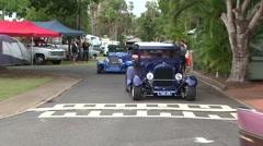 Vintage Car Parade Stock Footage