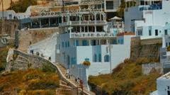 Close-up Tilting Shot of Traditional Mediterranean Villas Stock Footage