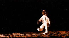 Astronaut on Mars Playing Baseball Stop Motion Animation, 4K Stock Footage
