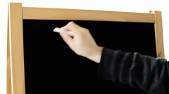 Blackboard check yes yes - stock footage