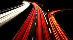 Autobahn bei Nacht - Freeway at night - stock photo