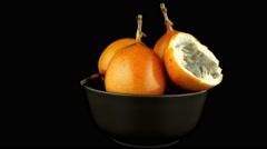 Passion fruit maracuja granadilla Stock Footage