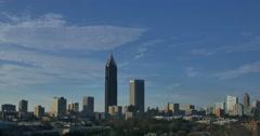 Stock Video Footage of Atlanta Skyline Time Lapse December 2015