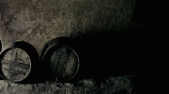 Stock Video Footage of Cellar masked shadows scary