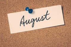 August - stock photo