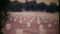 3055 Arlington National Cemetery in 1950 - vintage film home movie Stock Footage