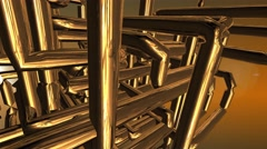 Abstract network pipe line matrix structure Stock Footage